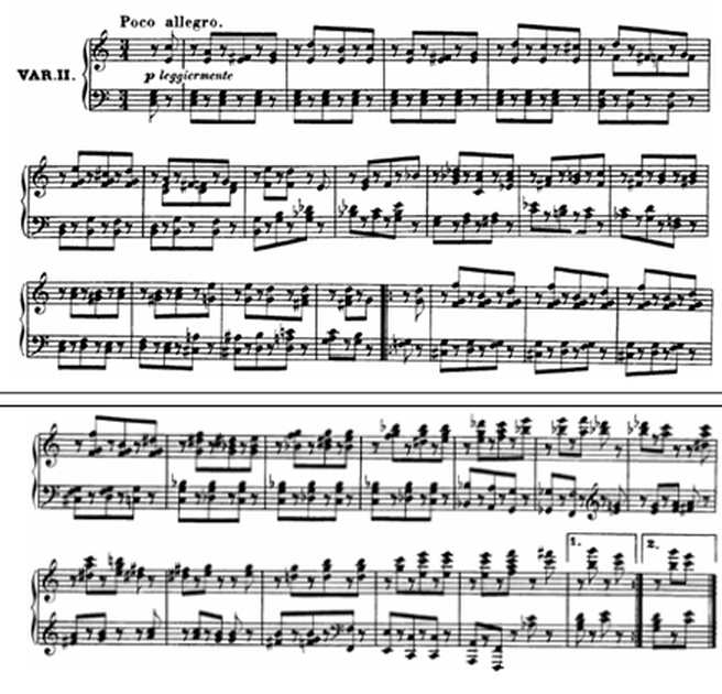 Diabelli score Var 2