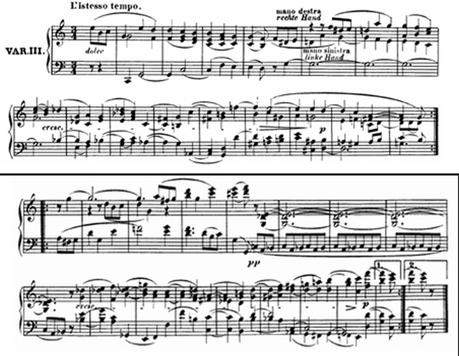 Diabelli score Var 3