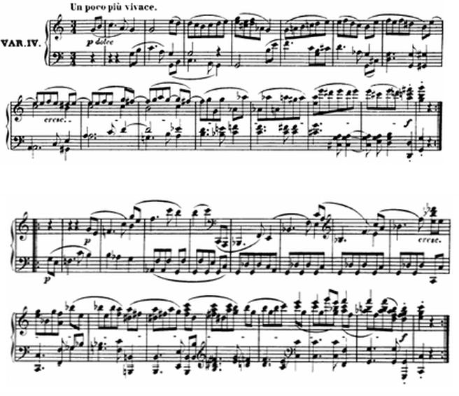 Diabelli score Var 4