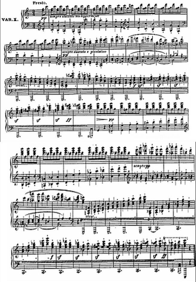 Diabelli score Var 10