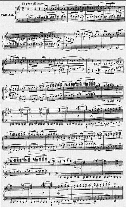 Diabelli score Var 12