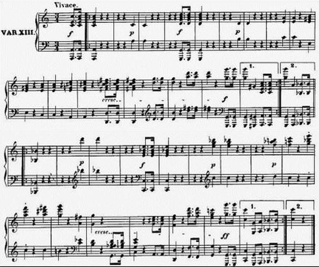 Diabelli score Var 13