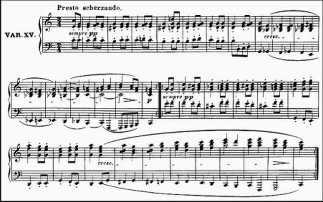 Diabelli score Var 15