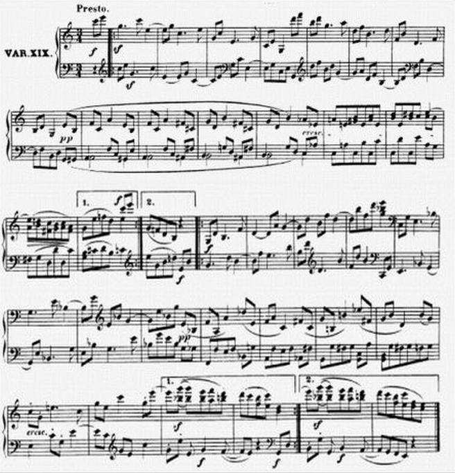 Diabelli score Var 19
