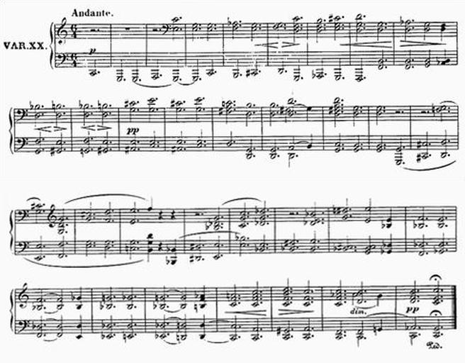 Diabelli score Var 20