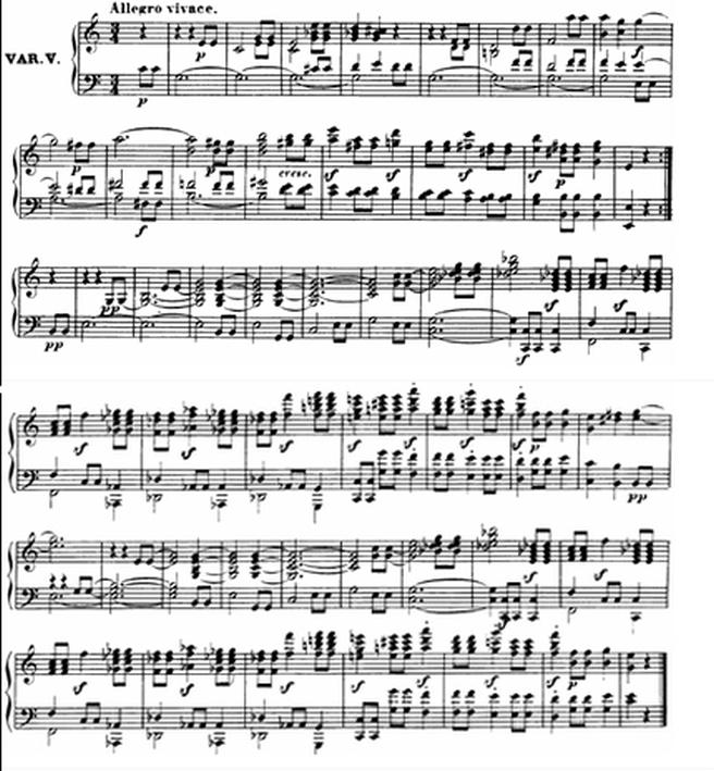 Diabelli score Var 5