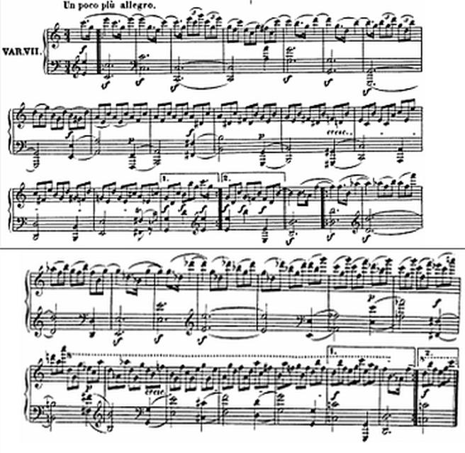 Diabelli score Var 7