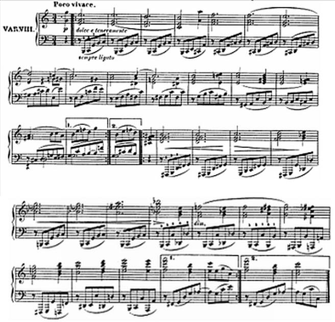 Diabelli score Var 8
